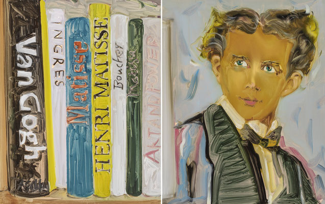 MATTHIAS KÖSTER  I  Portrait König Ludwig Matisse  I  Öl auf Aluminium  I  50 x 66 cm