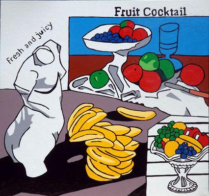 DEREK CURTIS  I  Fruity Cocktail fresh and juicy  I  Öl auf Aluminium  I  50 x 90 cm