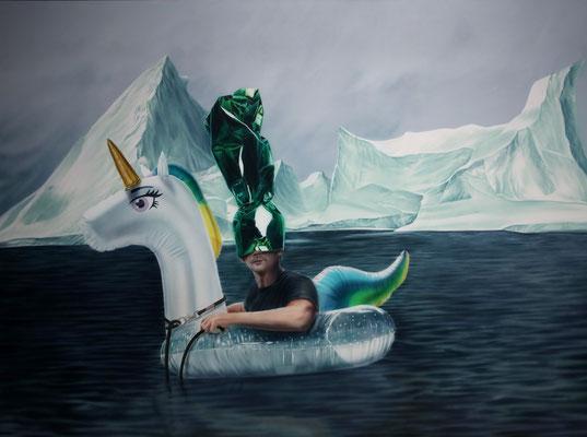 DAVID UESSEM  I  beachparty  I  Öl und Acryl auf Leinwand  I  150 x 200 cm
