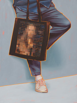 HOLGER KURT JÄGER  I  Arty farty Self portrait  I  Öl auf Leinwand  I  120 x 90 cm