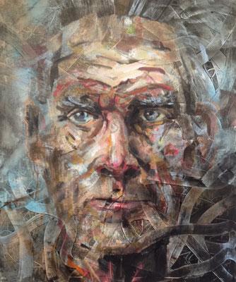 ANDREAS FLÜGEL  I  Beckett  I  Acryl und Lack auf Leinwand  I  120 x 100 cm