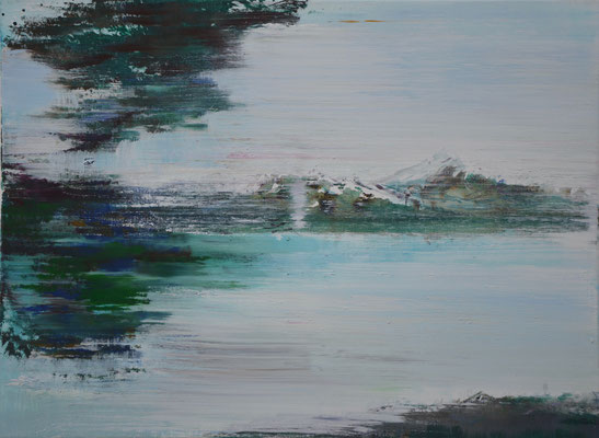 XIANWEI ZHU  I  live in free world  I  Acryl auf Leinwand  I  54 x 73 cm
