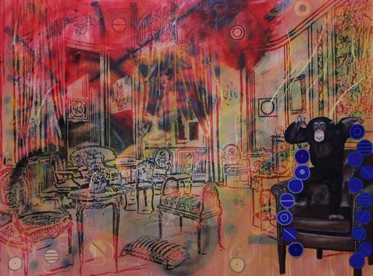 IVO LUCAS  I  Di questi tempi  I  Öl, Acryl, Pigmente, Lack auf Leinwand  I  150 x 200 cm