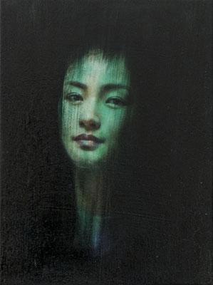 JINY LAN  I  Eurasia - Nun Zhou  I  Öl auf Leinwand  I   40 x 30  cm