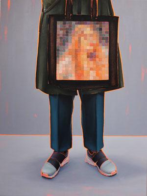 HOLGER KURT JÄGER  I  Arty farty Lady of Shalott  I  Öl auf Leinwand  I  120 x 90 cm