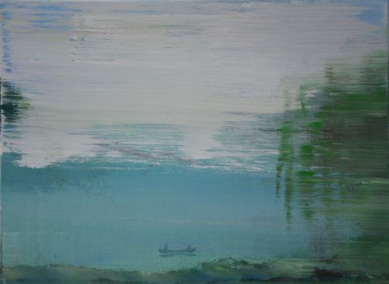 XIANWEI ZHU  I  i have a date with spring  I  Acryl auf Leinwand  I  54 x 73 cm