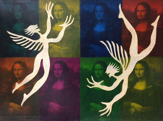 REN RONG  I  Mona Lisa - Dialog  I  Foto, Holz, Lack  I  60 x 80 cm