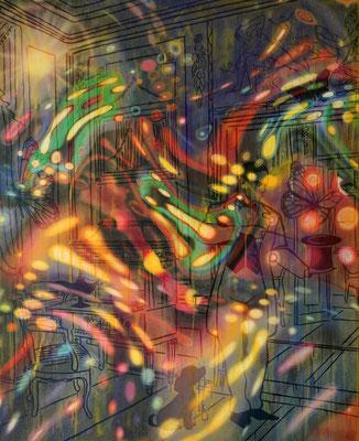 IVO LUCAS  I  Peu de réalité  I  Öl, Acryl, Pigmente, Lack auf Leinwand  I  200 x 160 cm