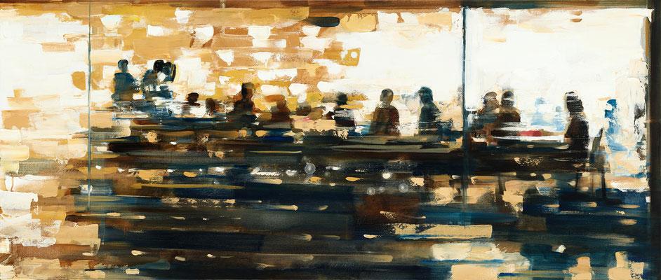 RENATA TUMAROVA  I  The last evening together in March  I  Öl auf Leinwand  I  60 x 140 cm (Repro: Eric Tschernow)