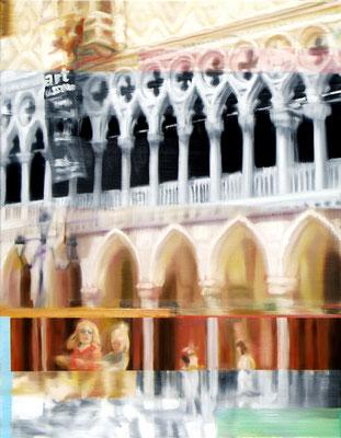 MARTIN HERLER  I  Venice, Doge's Palace  I  Öl auf Leinwand  I  90 x 70 cm