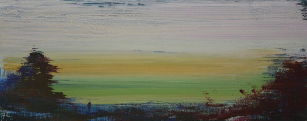 XIANWEI ZHU  I  green  I  Acryl auf Leinwand  I  40 x 100 cm