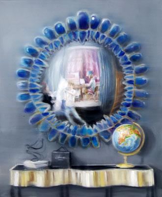 MARTIN HERLER  I  Mirror image chanel  I  Öl auf Leinwand  I  120 x 100 cm