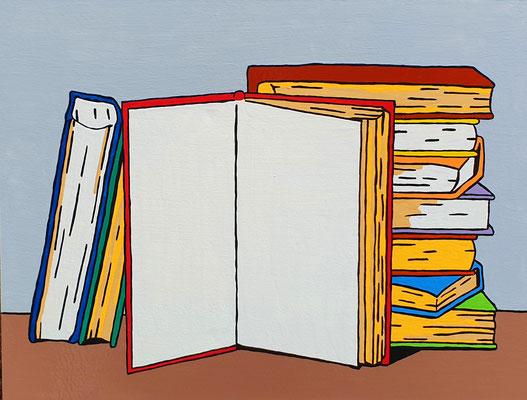 DEREK CURTIS  I  A Blank Page  I  Lack auf Aluminium  I  46 x 61 cm