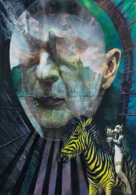 JINY LAN  I  Monkey Goes to Heaven  I  Mischtechnik auf Leinwand  I  200 x 140 cm