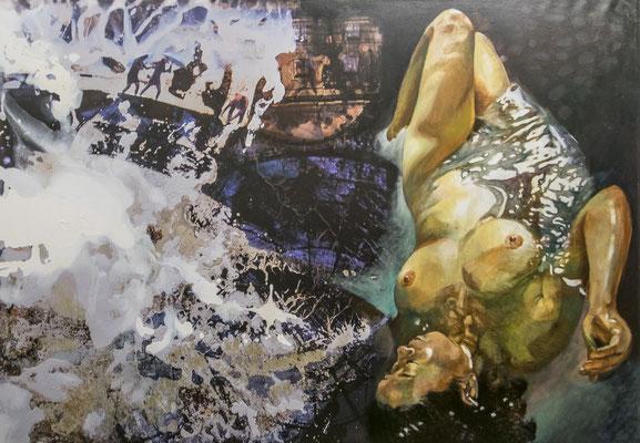 JINY LAN  I Break water  I Mischtechnik auf Leinwand  I  140 x 200 cm