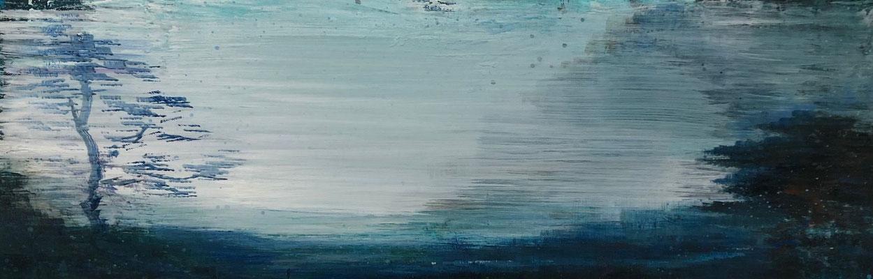 XIANWEI ZHU  I  blue hour  I  Acryl auf Leinwand  I  40 x 120 cm