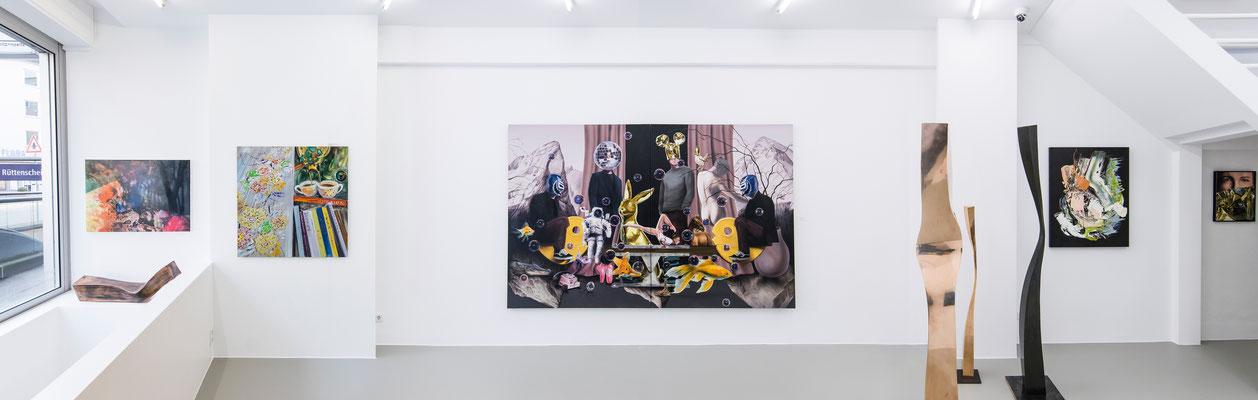 Ausstellungsansicht 2 INDEX 20: Jiny Lan, Matthias Köster, David Uessem, Volker Kiehn, Sebastian Heiner
