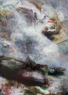 JINY LAN  I  fairytale  I  Mischtechnik auf Leinwand  I   70 x 50  cm