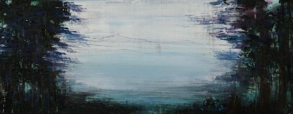 XIANWEI ZHU  I  from the wood to the light  I  Acryl auf Leinwand  I  40 x 100 cm