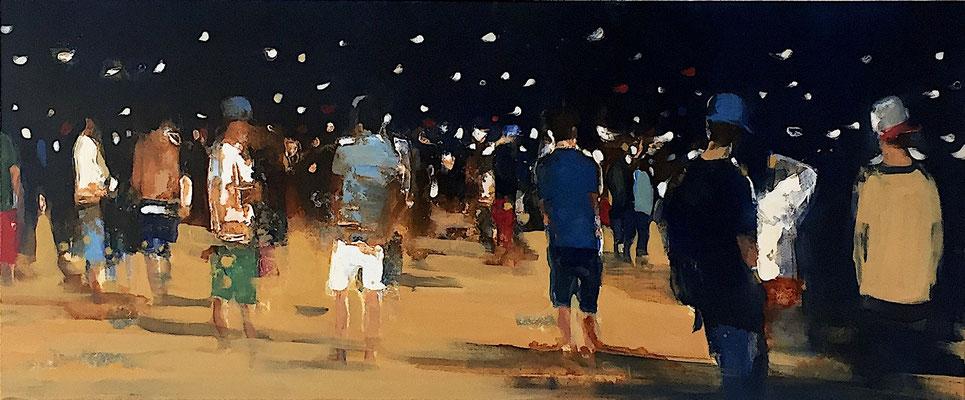 RENATA TUMAROVA  I  Streetlife 02  I  Öl auf Leinwand  I  50 x 120 cm