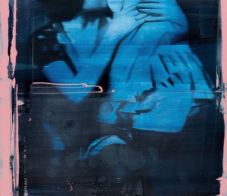 ALPAY EFE  I  smoke and mirrors  I  Öl auf Holz  I  70 x 80 cm