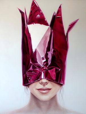DAVID UESSEM  I  disco queen  I  Öl und Acryl auf Leinwand  I  140 x 110 cm