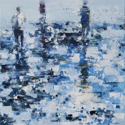RENATA TUMAROVA  I  Beachwalk 05  I  Öl auf Leinwand  I  60 x 60 cm (Repro: Eric Tschernow)