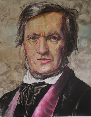 ANDREAS FLÜGEL  I  Wagner I  Acryl und Lack auf Leinwand  I  140 x 110 cm