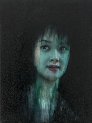 JINY LAN  I  Eurasia - Yuan Yuan  I  Öl auf Leinwand  I   40 x 30  cm