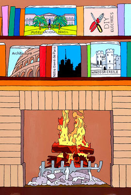 DEREK CURTIS  I  Burning Down the House  I  Lack auf Aluminium  I  120 x 80 cm