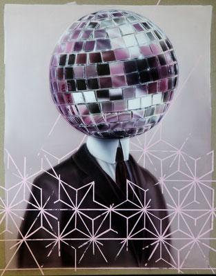 DAVID UESSEM  I  disco disco  I  Öl und Acryl auf Leinwand  I  100 x 80 cm