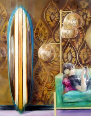 MARTIN HERLER  I  Mirror image in shape  I  Öl auf Leinwand  I  140 x 110 cm