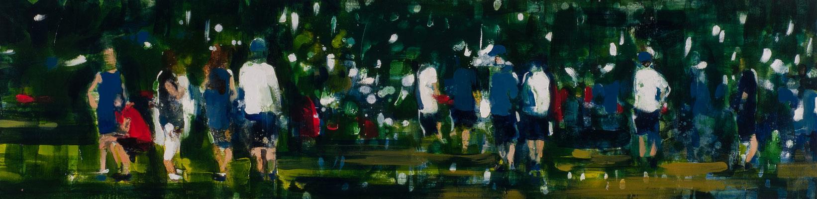 RENATA TUMAROVA  I  Parc stories  I  Öl auf Leinwand  I  30 x 120 cm