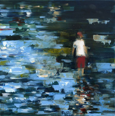 RENATA TUMAROVA  I  Buscadores de conchas  I  Öl auf Leinwand  I  60 x 60 cm (Repro: Eric Tschernow)