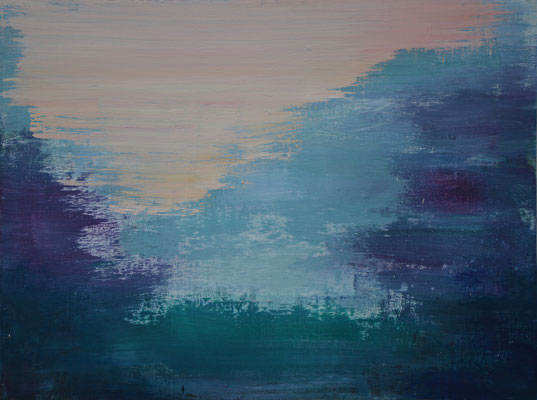 XIANWEI ZHU  I  wordless I  Acryl auf Leinwand  I  60 x 80 cm