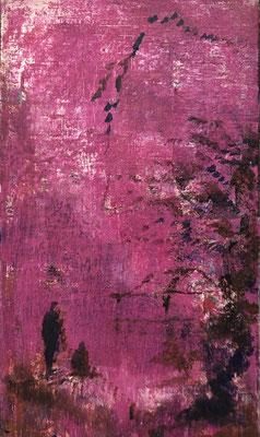 XIANWEI ZHU  I  life is  a flower  I  Acryl auf Leinwand  I  41 x 24 cm
