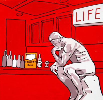 DEREK CURTIS  I  Life  I  Öl auf Aluminium  I  40 x 40 cm
