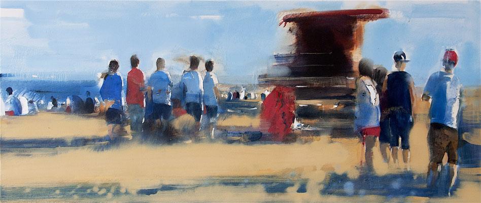 RENATA TUMAROVA  I  North beach  I  Öl auf Leinwand  I  60 x 140 cm