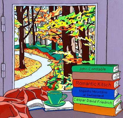 DEREK CURTIS  I  Room with a view  I  Lack auf Aluminium  I  90 x 90 cm