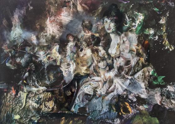 JINY LAN  I  A history of colors  I  Mischtechnik auf Leinwand  I   100 x 140  cm