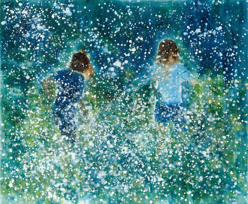 RENATA TUMAROVA  I  It's like something in the air  I  Öl auf Leinwand  I  140 x 170 cm (Repro: Eric Tschernow)