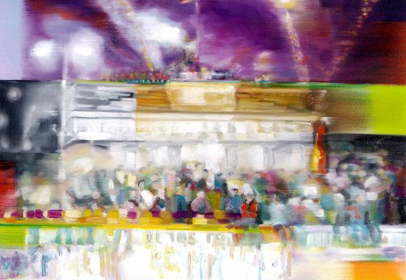 MARTIN HERLER  I  On the edge of unity  I  Öl auf Leinwand  I  70 x 100 cm
