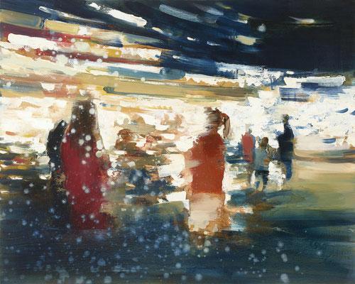 RENATA TUMAROVA  I  The rush 01  I  Öl auf Leinwand  I  80 x 100 cm (Repro: Eric Tschernow)