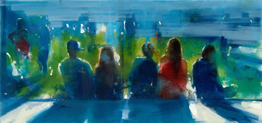 RENATA TUMAROVA  I  We always live together 01  I  Öl auf Leinwand  I  80 x 170 cm (Repro: Eric Tschernow)