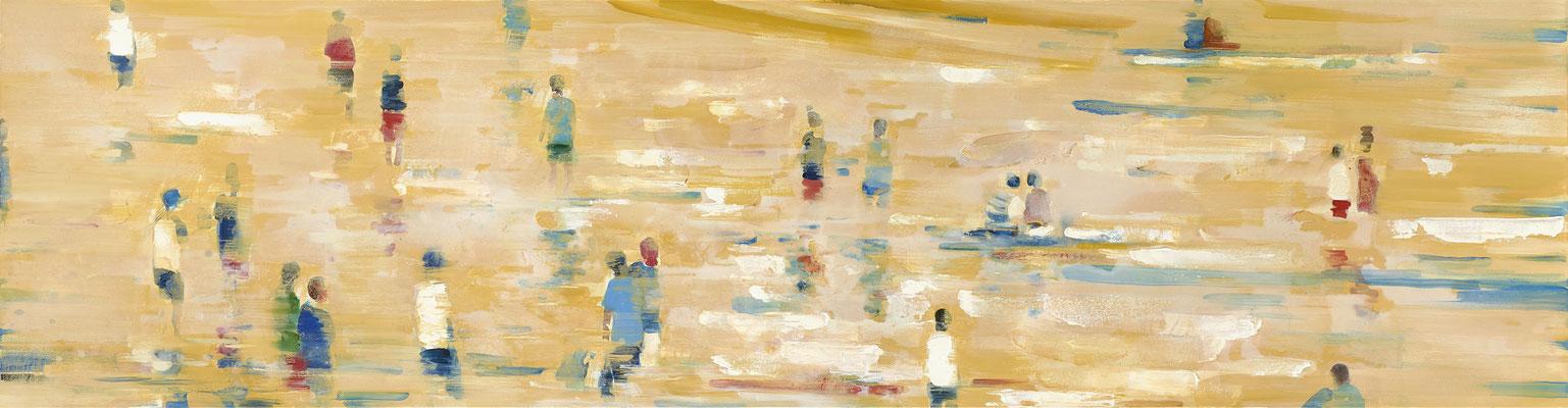 RENATA TUMAROVA  I  Sun's out  I  Öl auf Leinwand  I  60 x 230 cm (Repro: Eric Tschernow)