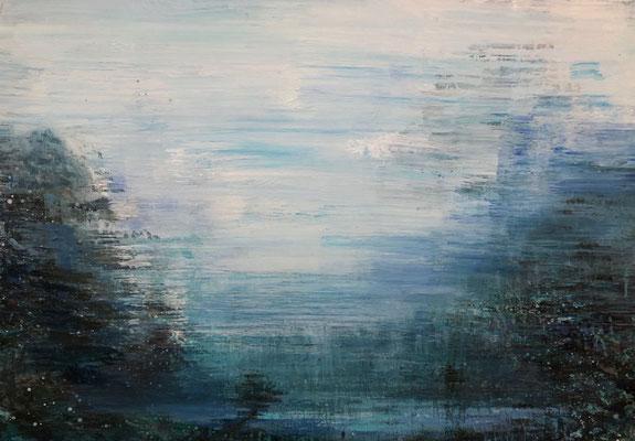XIANWEI ZHU  I  down to the lake again  I  Acryl auf Leinwand  I  65 x 92 cm