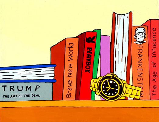 DEREK CURTIS  I  President Bookcase  I  Lack auf Aluminium  I  39 x 50 cm