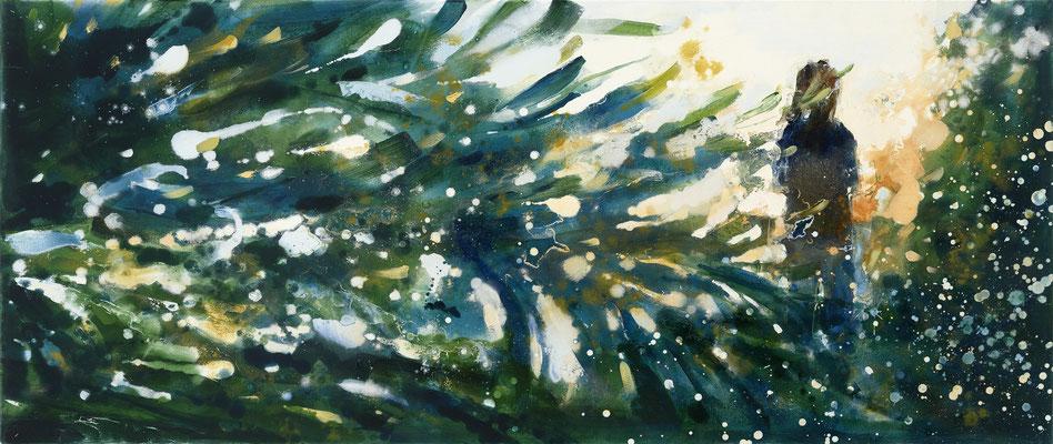 RENATA TUMAROVA  I  Sunset 02 I  Öl auf Leinwand  I  60 x 140 cm (Repro: Eric Tschernow)