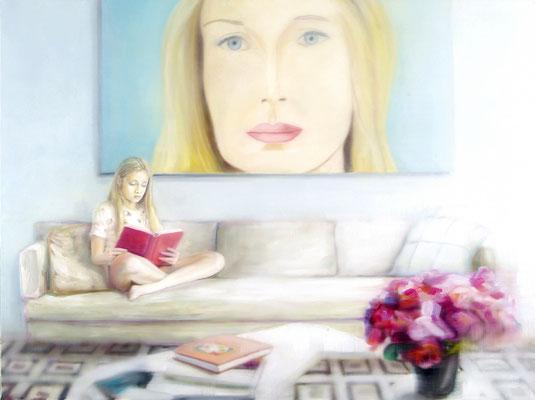 MARTIN HERLER  I  Alex and family  I  Öl auf Leinwand  I  120 x 160 cm