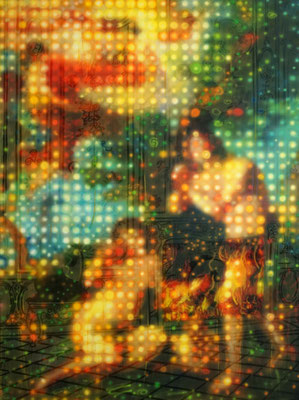 IVO LUCAS  I  Blumenzimmer  I  Öl, Acryl, Pigmente, Lack auf Leinwand  I  160 x 120 cm